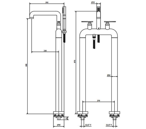 Technical drawing QS-V102477 / UB422DC_LV+
