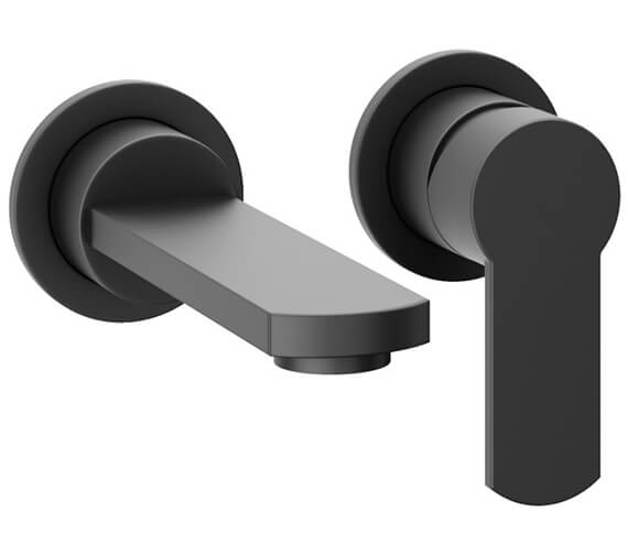 Additional image of Crosswater Wisp 2 Hole Wall Mounted Single Lever Basin Mixer Tap Set