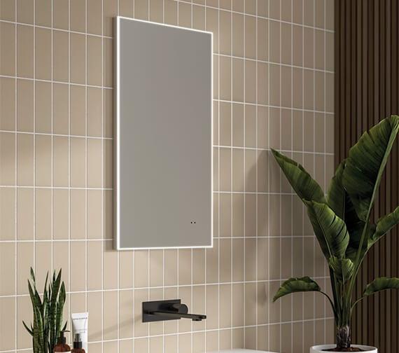 HIB Air 40 Rectangular Steam Free LED Mirror
