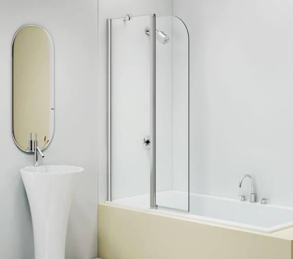 Merlyn MB3C 2 Panel Hinged Sleek Bath Screen 900 x 1500mm