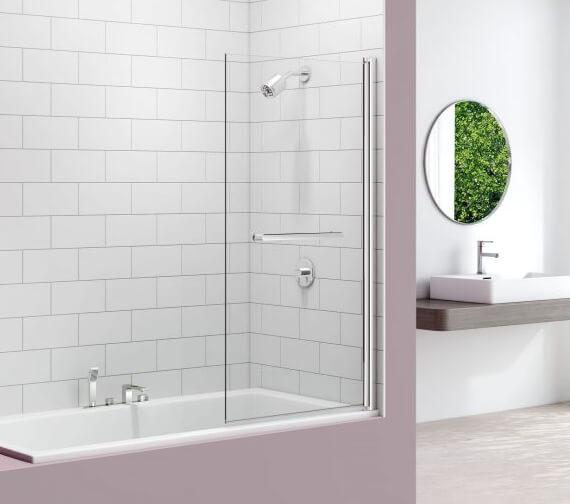 Merlyn MB10 Single Panel 800 x 1500mm Square Pivot Bath Screen - Swing 90 Degree