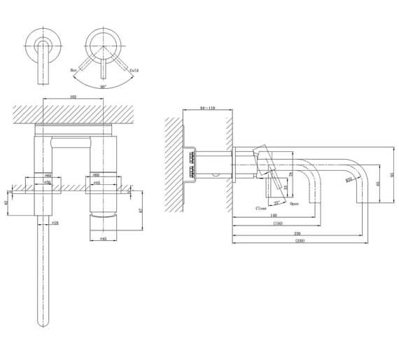Technical drawing QS-V72531 / PRO120WNC