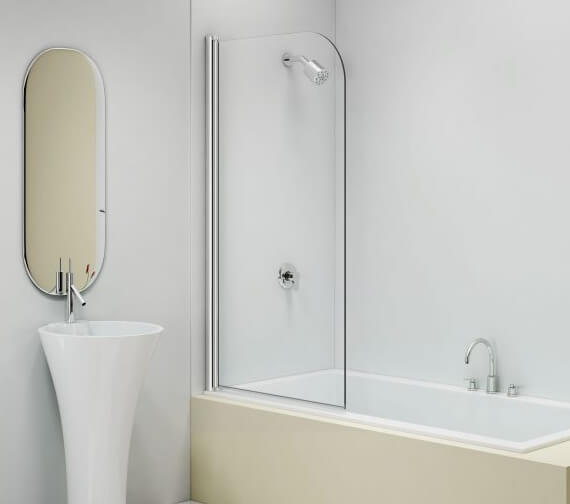 Merlyn MB11 Single Curved Panel Bath Screen 800 x 1500mm