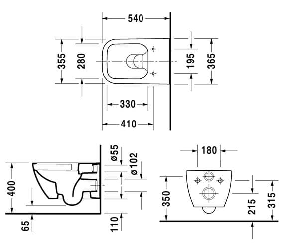 Technical drawing QS-V14503 / 2222090000