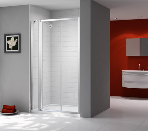 Merlyn Ionic Express Sliding Shower Door And Inline Panel 1080mm-1140mm Wide