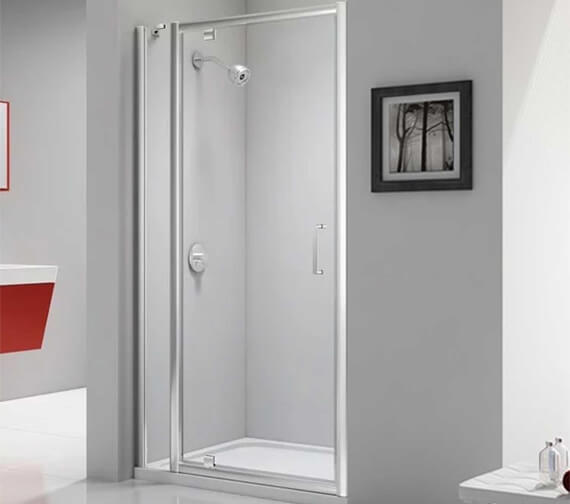 Merlyn Ionic Express 1900mm Height Pivot Shower Door And Inline Panel
