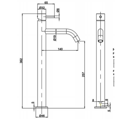 Technical drawing QS-V100385 / PRO112DNC