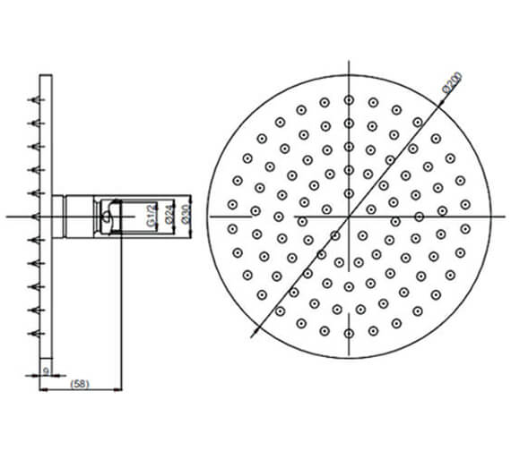 Technical drawing QS-V88635 / PRO200C+