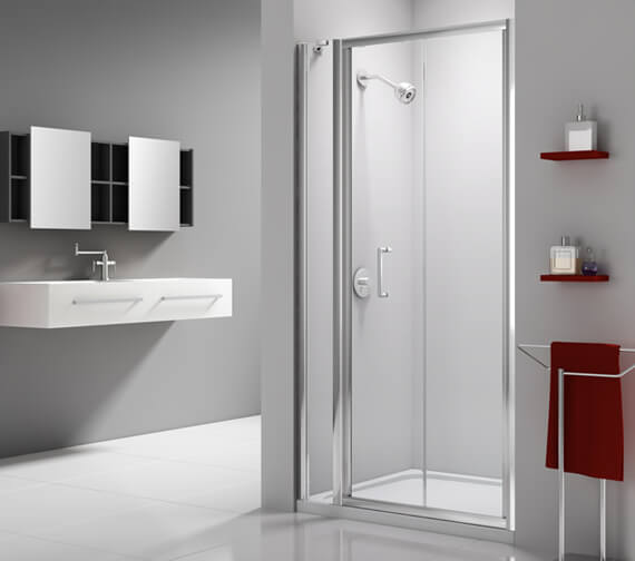 Merlyn Ionic Express Bi-Fold Shower Door And Inline Panel