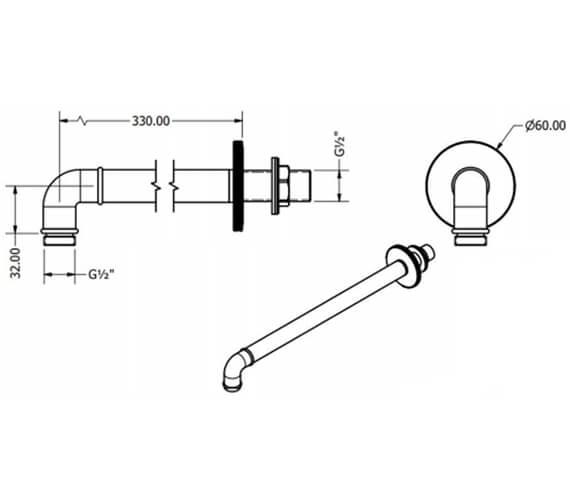 Technical drawing QS-V100543 / PRI684C