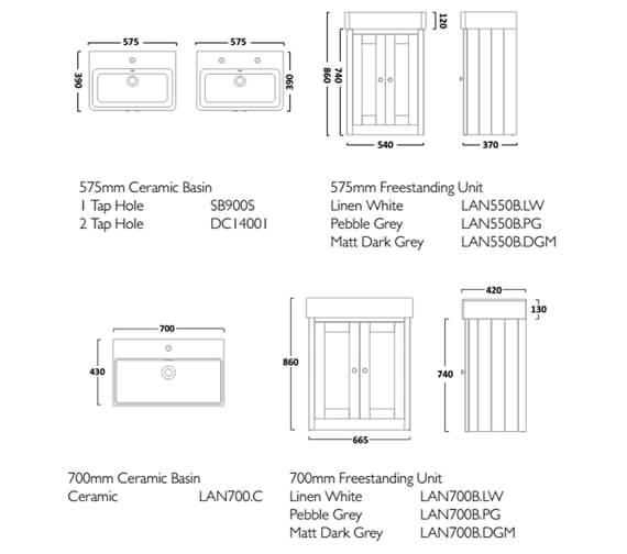 Technical drawing QS-V16528 / LAN550B.LW