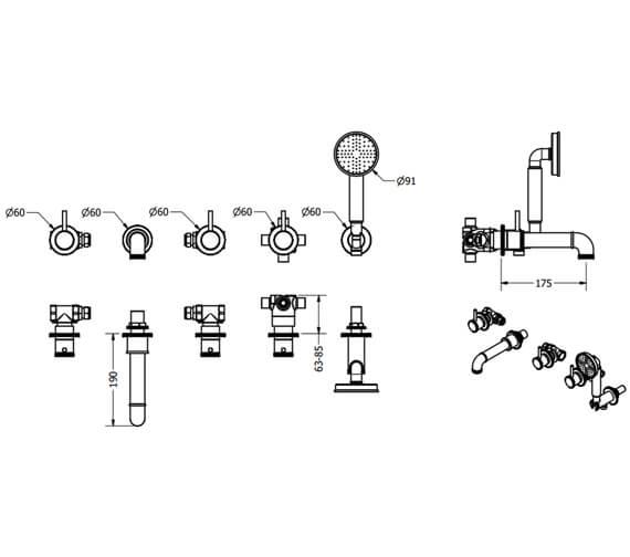 Technical drawing QS-V100542 / PRI450WC