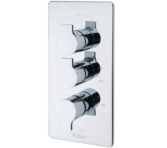 Tre Mercati Angle Concealed Thermostatic 3 Way Diverter Valve - 22193