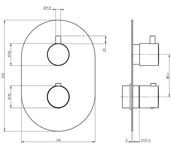 Technical drawing QS-V88059 / KAHA 1D