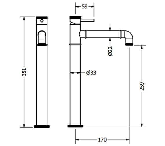 Technical drawing QS-V100538 / PRI112DNC