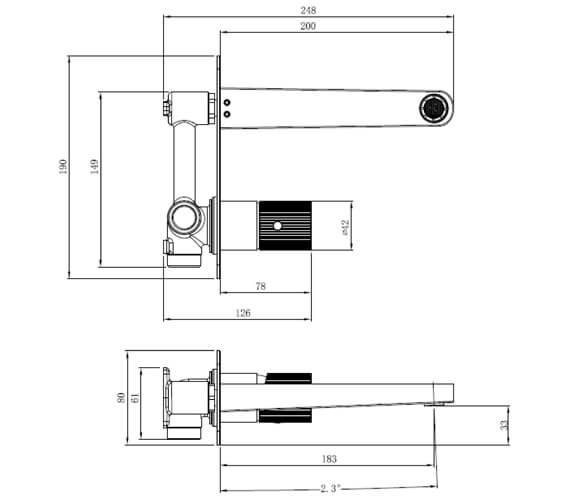Technical drawing QS-V103404 / RAKAMA3007C