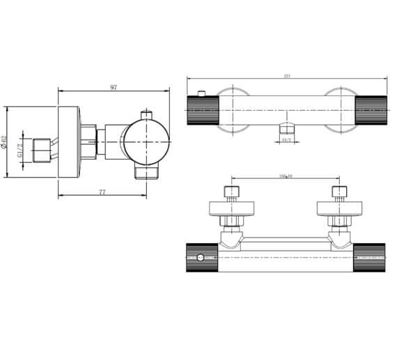 Technical drawing QS-V103408 / RAKAMA3303C