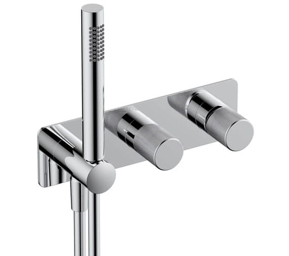 RAK Amalfi Horizontal Dual Outlet Thermostatic Concealed Shower Valve With Handset