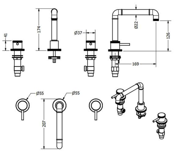 Technical drawing QS-V100541 / PRI135DNC