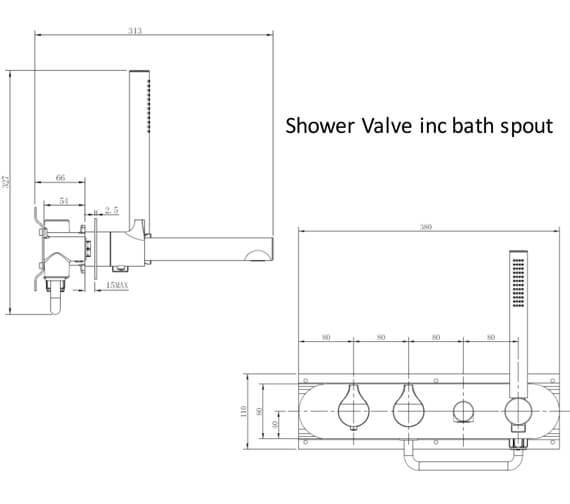 Technical drawing QS-V103417 / RAKSOR3305C