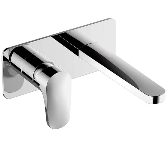 RAK Portofino Wall Mounted Basin Mixer Tap With Back Plate