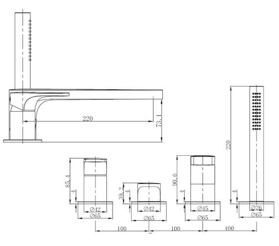 Technical drawing QS-V103421 / RAKPOR3013C