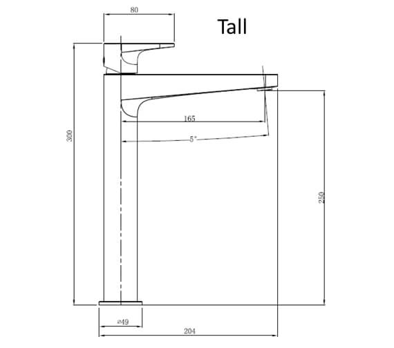 Technical drawing QS-V103411 / RAKISH3001C