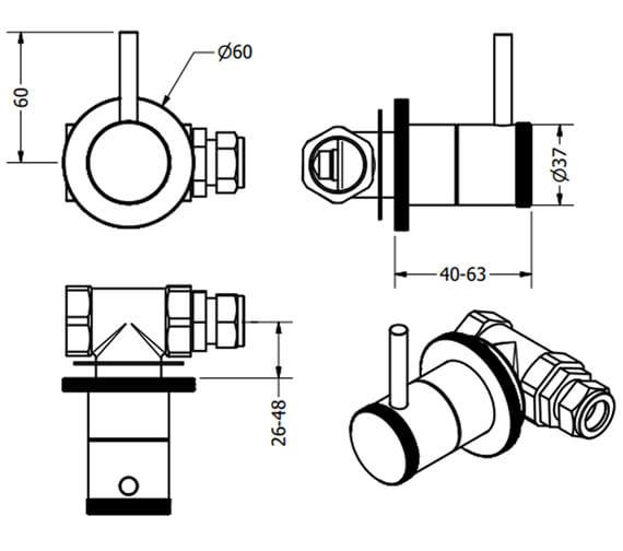 Technical drawing QS-V100534 / PRI0370WC