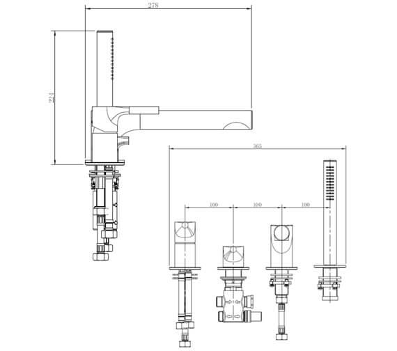 Technical drawing QS-V103428 / RAKSOR3013C