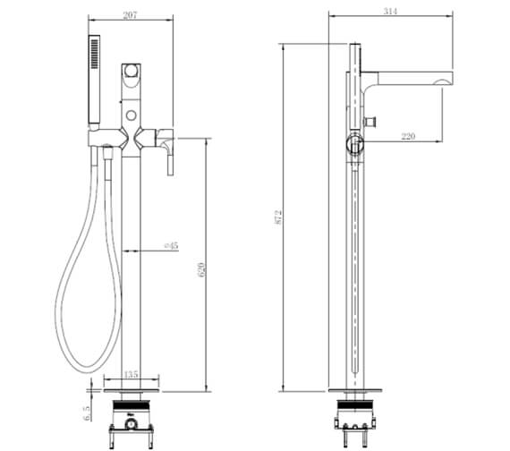 Technical drawing QS-V103429 / RAKSOR3014C