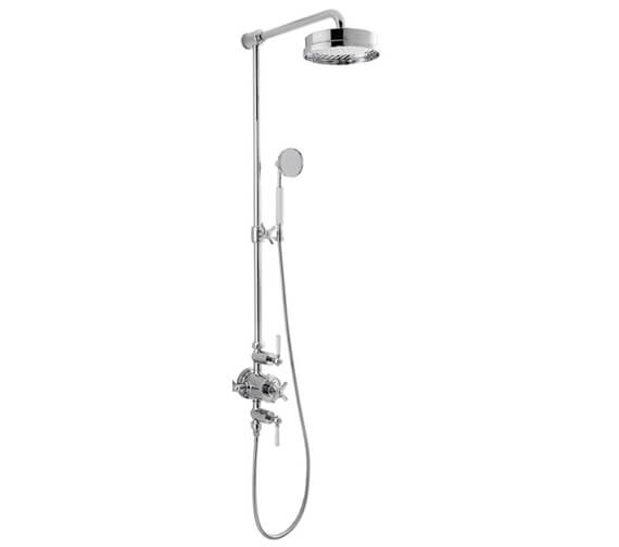 Additional image of Crosswater Waldorf Thermostatic Shower Valve With Shower Handset And Fixed Head