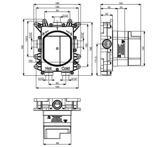Technical drawing QS-V102468 / MVCB1000LBPC
