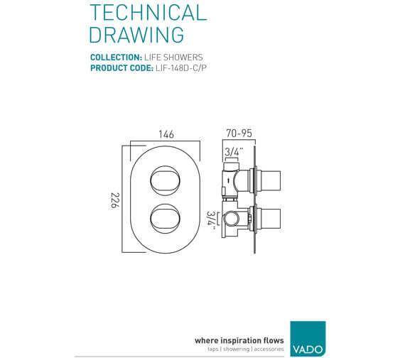 Technical drawing QS-V94111 / LIF-148D-C/P