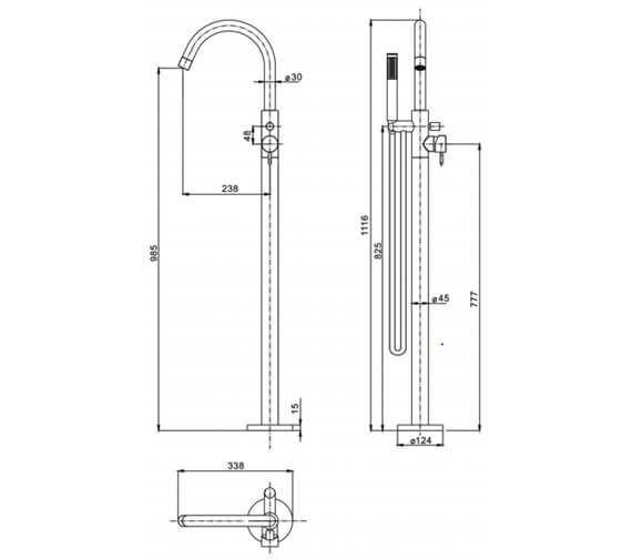 Technical drawing QS-V72561 / PRO416FC