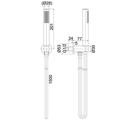 Technical drawing QS-V72570 / PRO963C