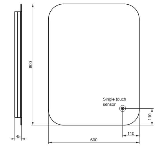 Additional image of Harrison Bathrooms Aura LED Mirror With Demister Pad And Shaver Socket