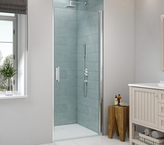 Merlyn 8 Series Frame-less Pivot Shower Door 1950mm Height
