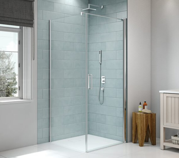 Additional image of Merlyn 8 Series Frame-less Pivot Shower Door 1950mm Height