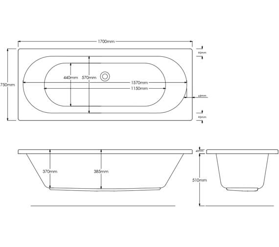 Additional image of Harrison Bathrooms Cascade Double Ended Bath