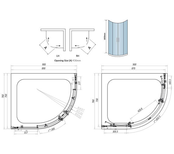 Technical drawing QS-V102792 / A6SHOWER003