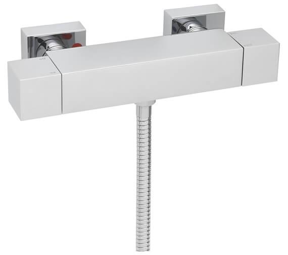 Tre Mercati Exposed Thermostatic Shower Valve With Sliding Rail Kit