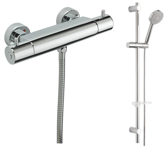 Tre Mercati Bella Exposed Thermostatic Shower Valve And Slide Rail Kit