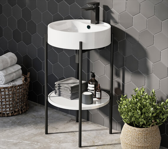 Harrison Bathrooms Supreme Furniture Round Basin And Stand
