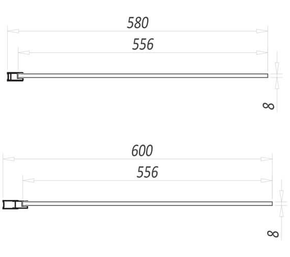 Technical drawing QS-V11212 / NOIREGLASSPAN01