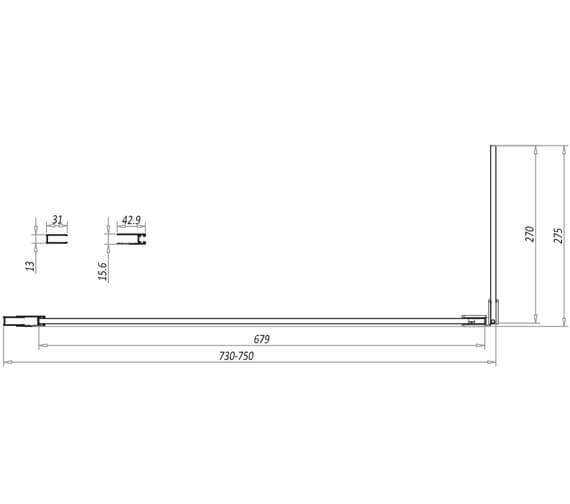 Technical drawing QS-V11213 / NOIREGLASSSET01