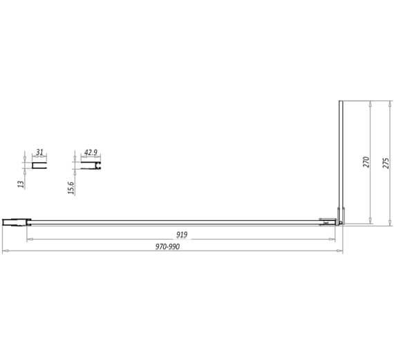 Additional image for QS-V11213 Harrison Bathrooms - NOIREGLASSSET01