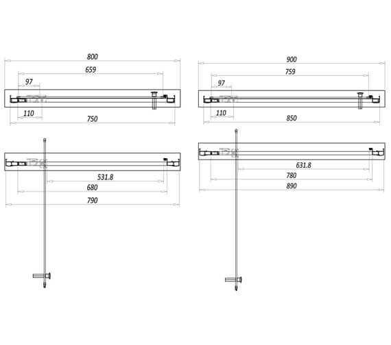 Technical drawing QS-V102794 / A6SHOWER017