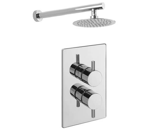 Tre Mercati Concealed Thermostatic Shower Valve With Overhead Arm And Rose