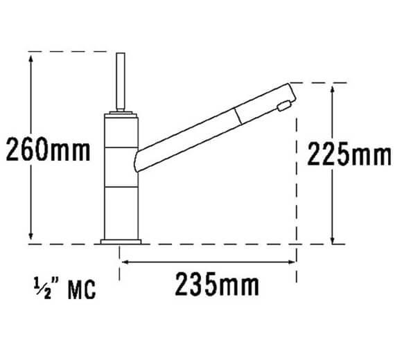 Technical drawing QS-V31658 / 27610
