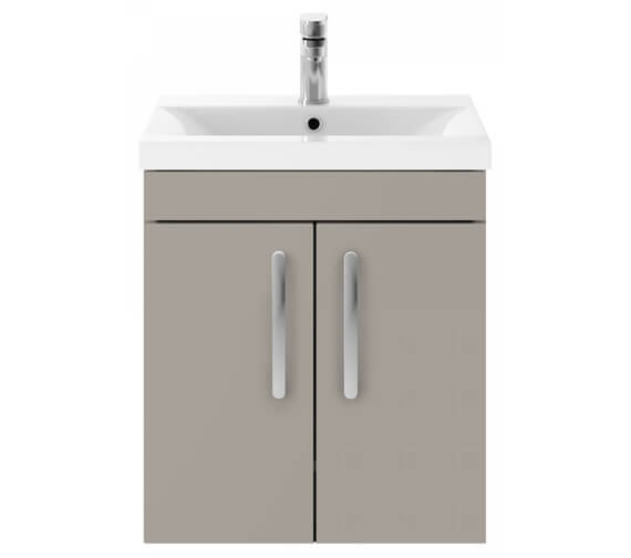 Nuie Premier Athena 2 Door Wall Hung Vanity Unit With Basin